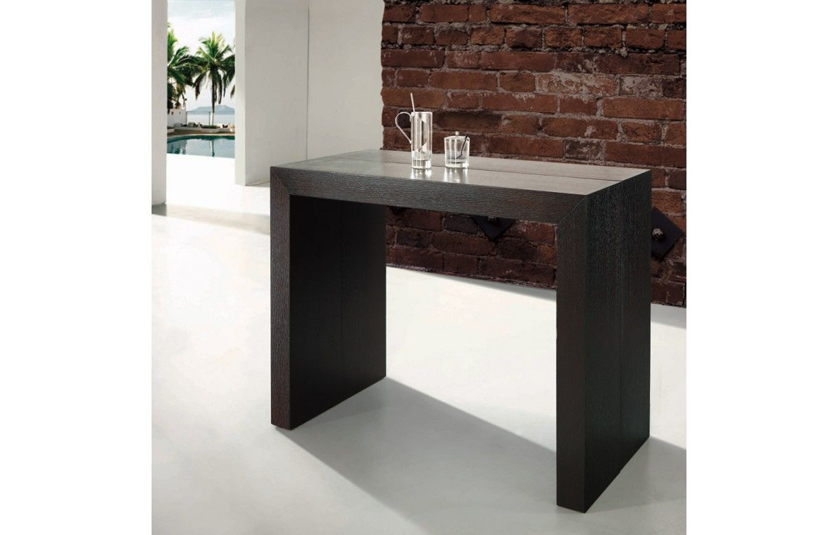 Table console extensible effet b ton for Table a rallonge console
