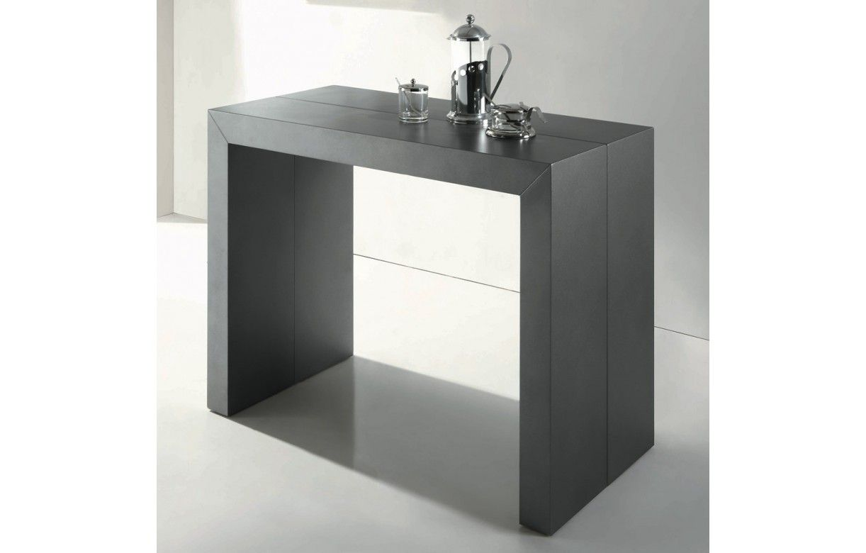 table console extensible effet b ton. Black Bedroom Furniture Sets. Home Design Ideas