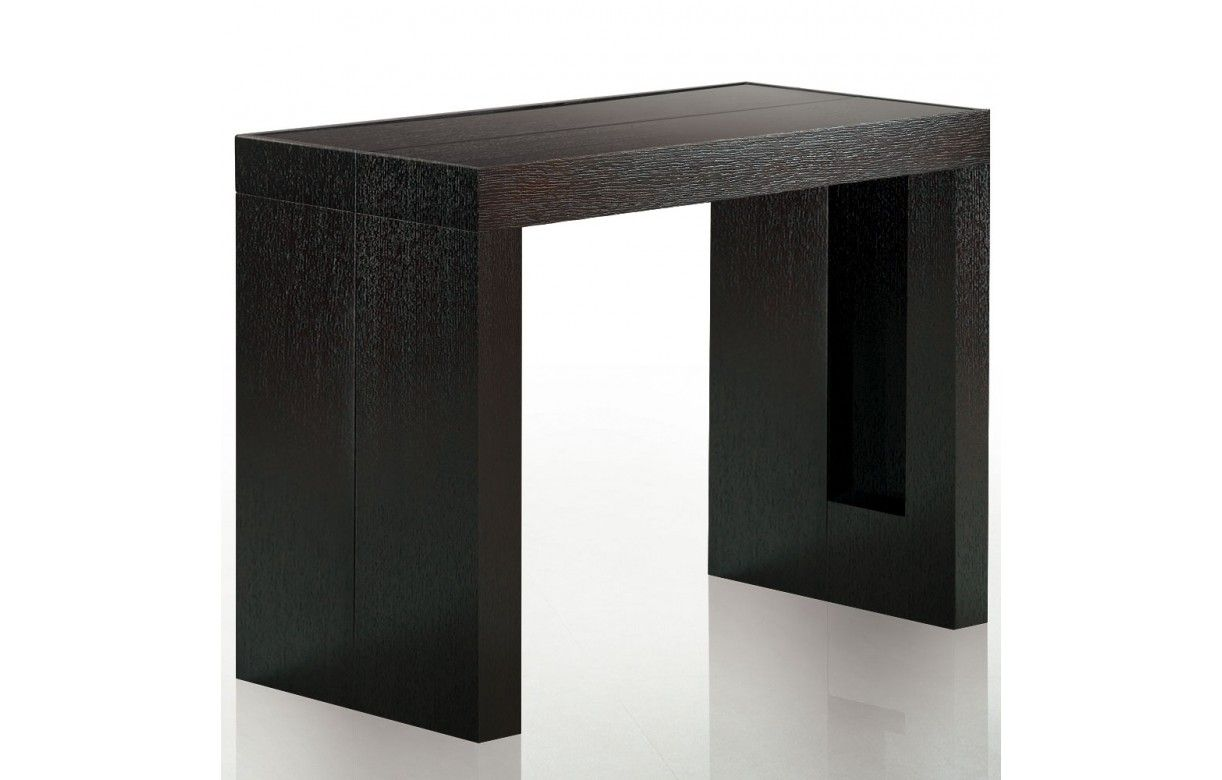 table console avec rallonges integrees. Black Bedroom Furniture Sets. Home Design Ideas