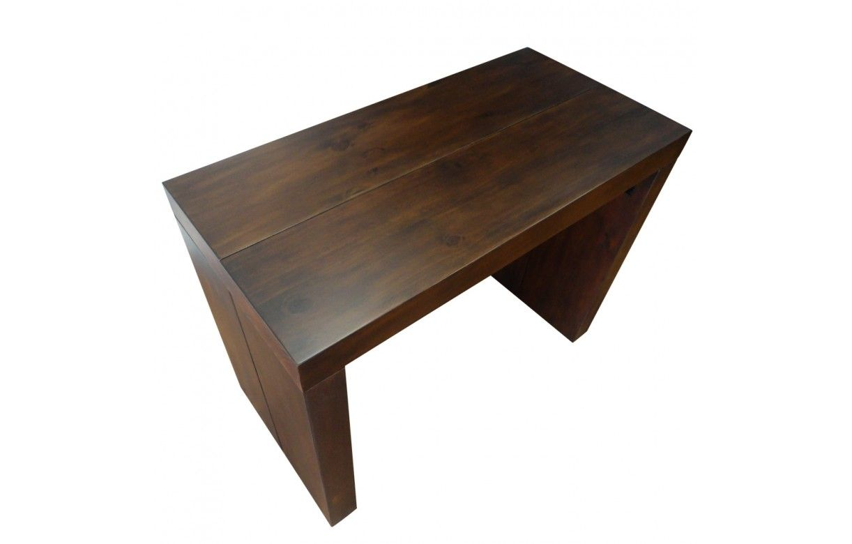 Table console extensible en bois massif 10 couverts for Table console extensible 10 personnes