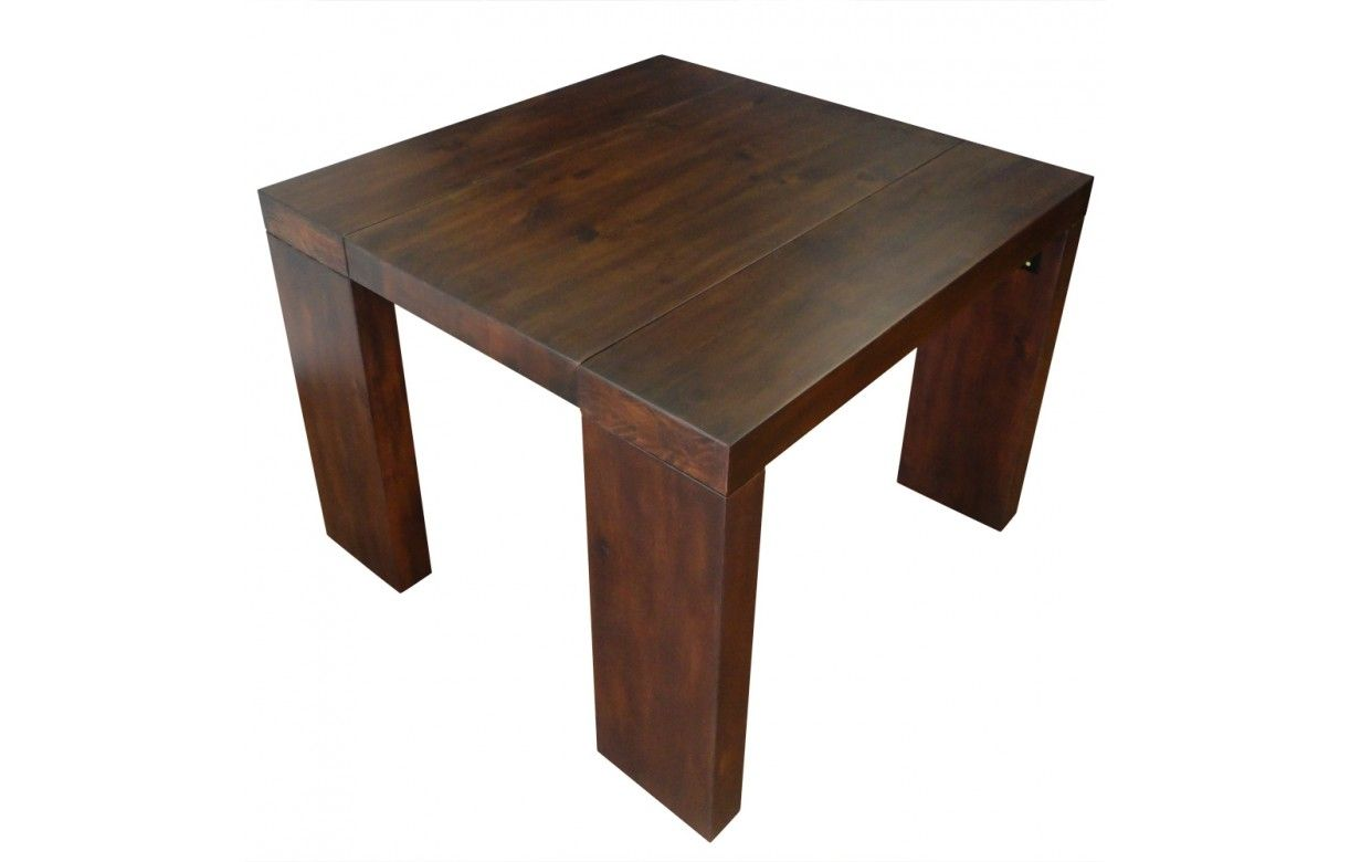 Console bois ikea for Table ovale extensible bois