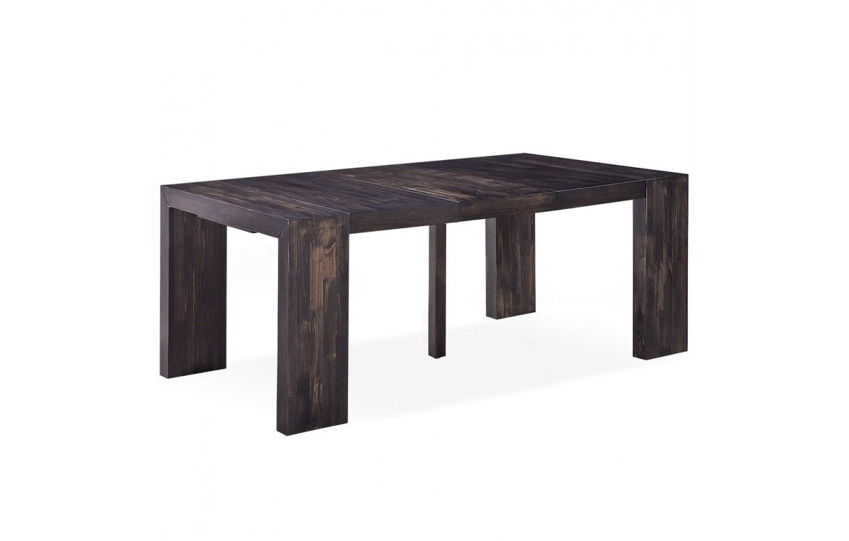 table console extensible en bois massif 10 couverts. Black Bedroom Furniture Sets. Home Design Ideas