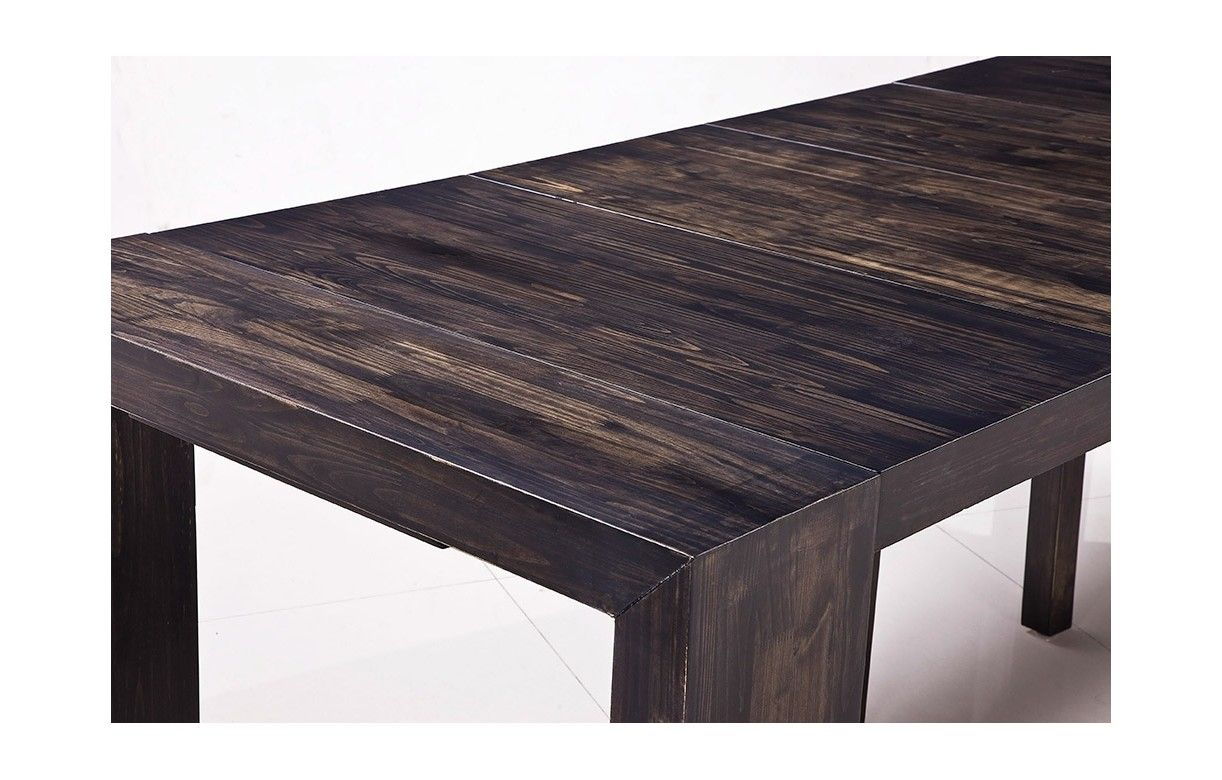 Table console extensible en bois massif 12 couverts for Table salle a manger wenge