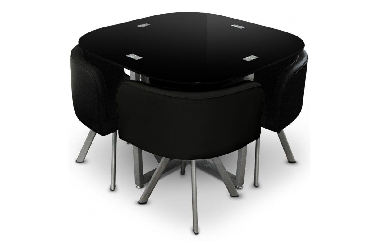 table a manger avec chaise encastrable valdiz. Black Bedroom Furniture Sets. Home Design Ideas