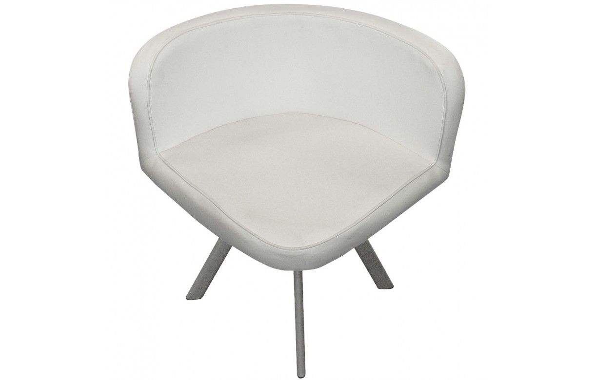 Ensemble table et 6 chaises encastrables en simili cuir for Table et chaise blanche