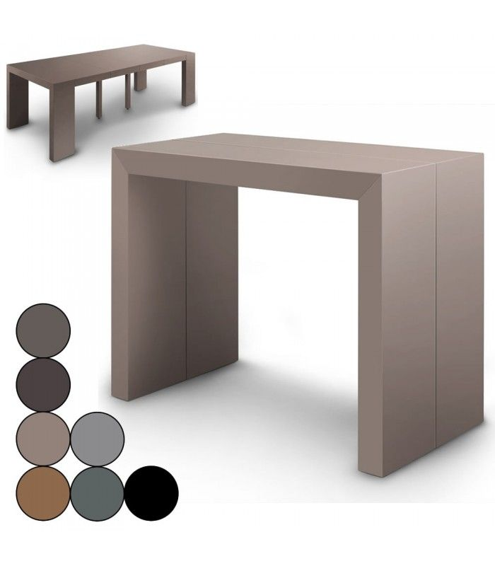 Table console extensible effet b ton for Table extensible effet beton