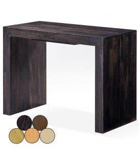 Table console extensible en bois massif 12 couverts Woodini 5 coloris