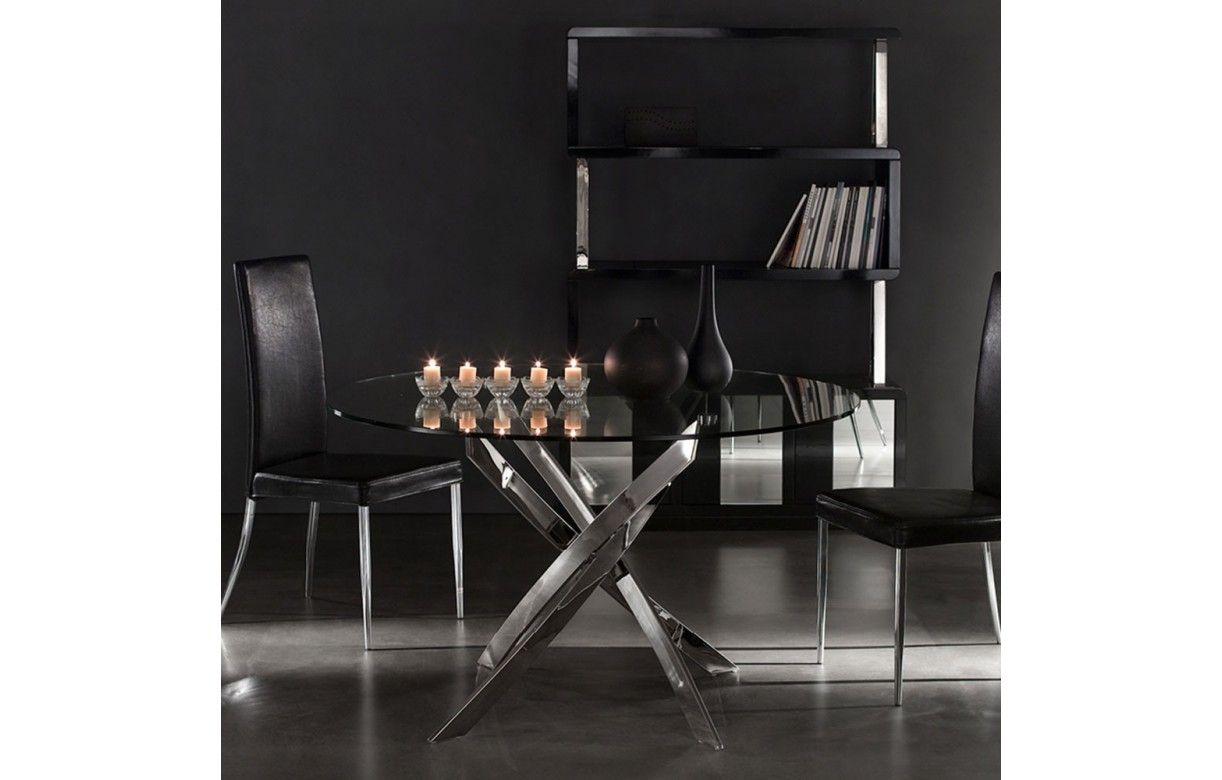 table design en verre transparent ou noir avec pieds. Black Bedroom Furniture Sets. Home Design Ideas