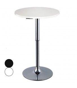 table de bar ronde noire r glable. Black Bedroom Furniture Sets. Home Design Ideas