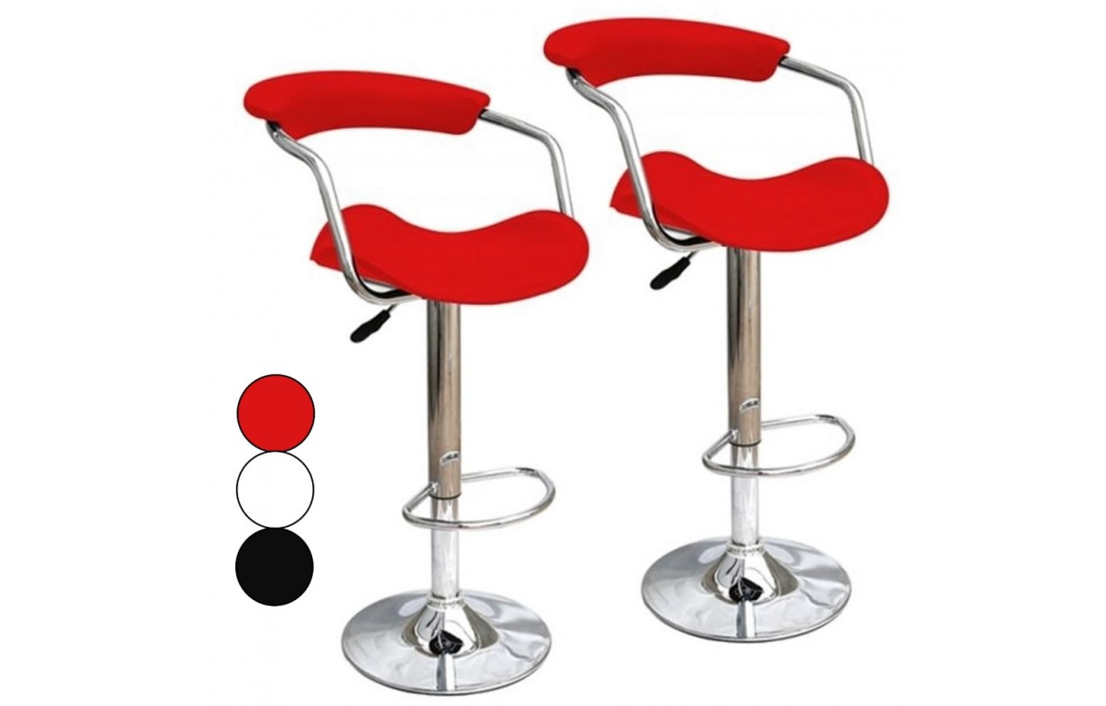 Tabouret de bar rouge design lot de tabourets bar fizz blanc et rouge design - Tabouret de bar rouge pas cher ...