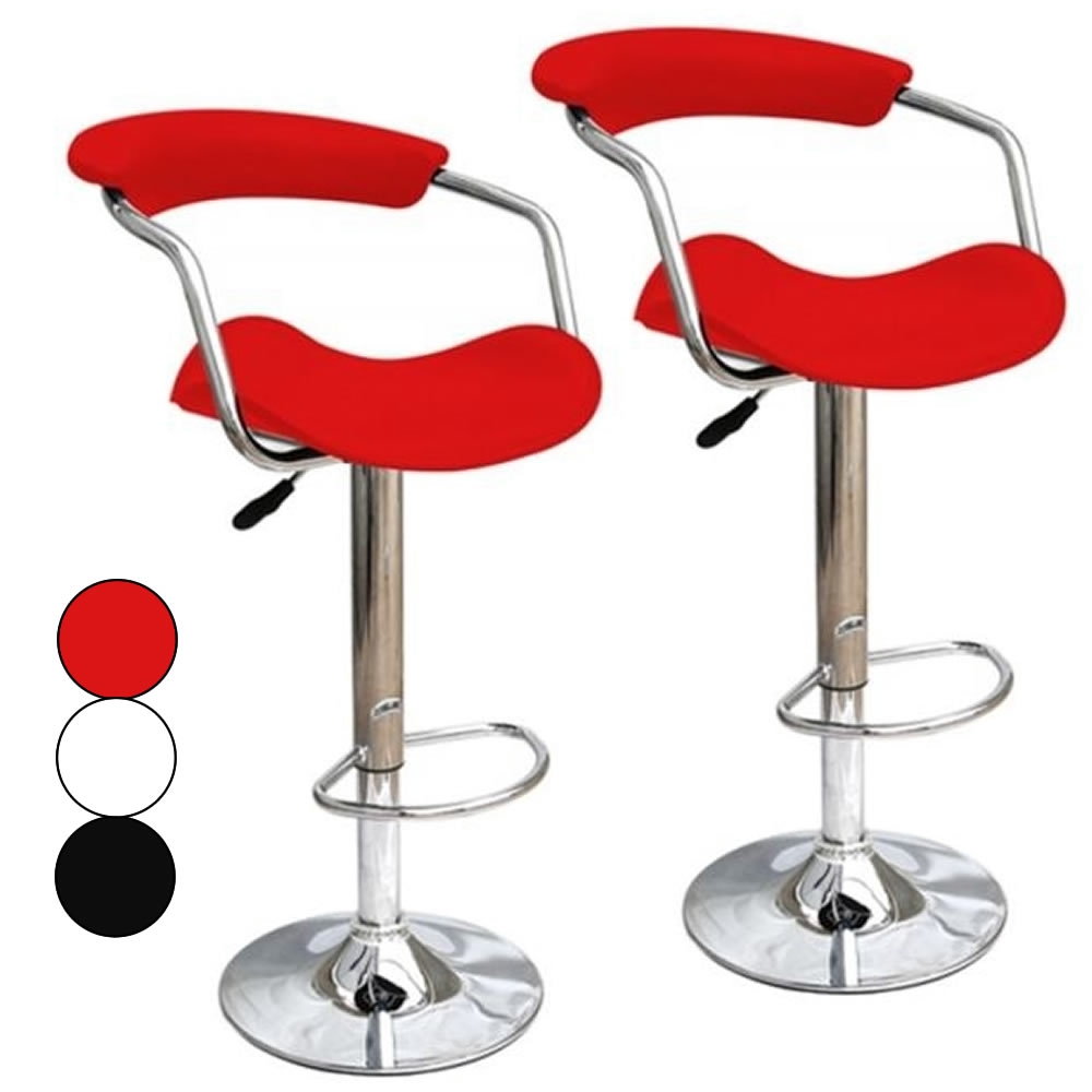 Tabouret bar simili cuir - Tabouret de bar design rouge ...