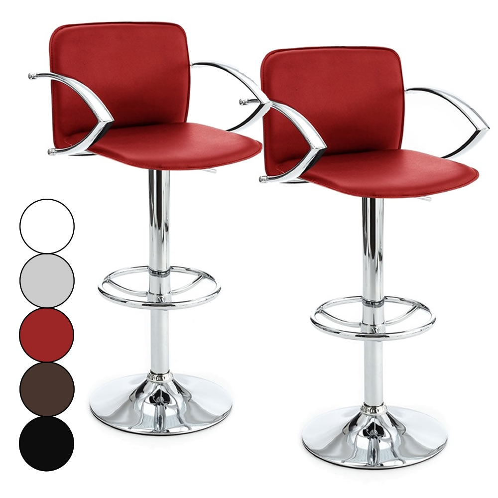 Chaise bar avec accoudoir - Tabouret de bar design rouge ...
