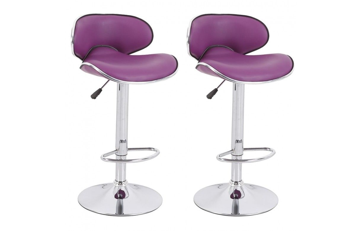 Tabouret de bar en simili cuir design set de 2 - Tabouret de bar simili cuir ...