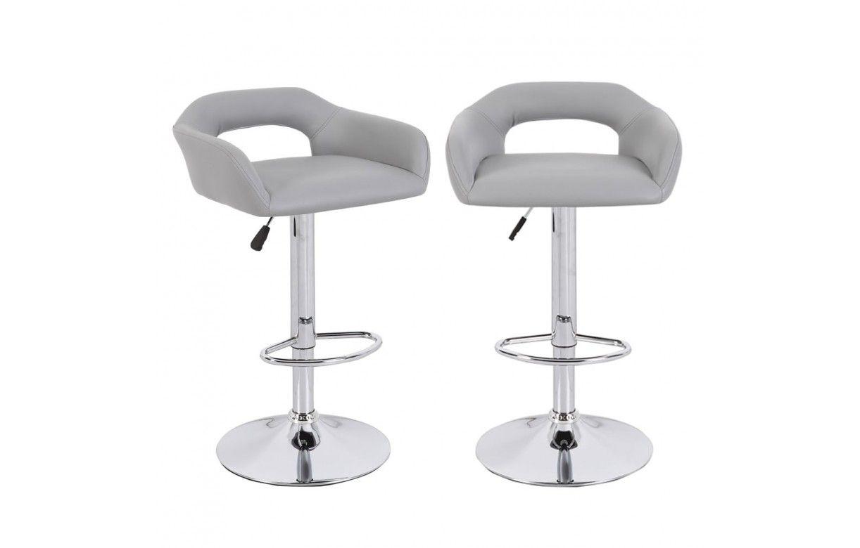 Chaise de bar design en simili cuir 5 coloris minoa lot - Chaise bar design ...