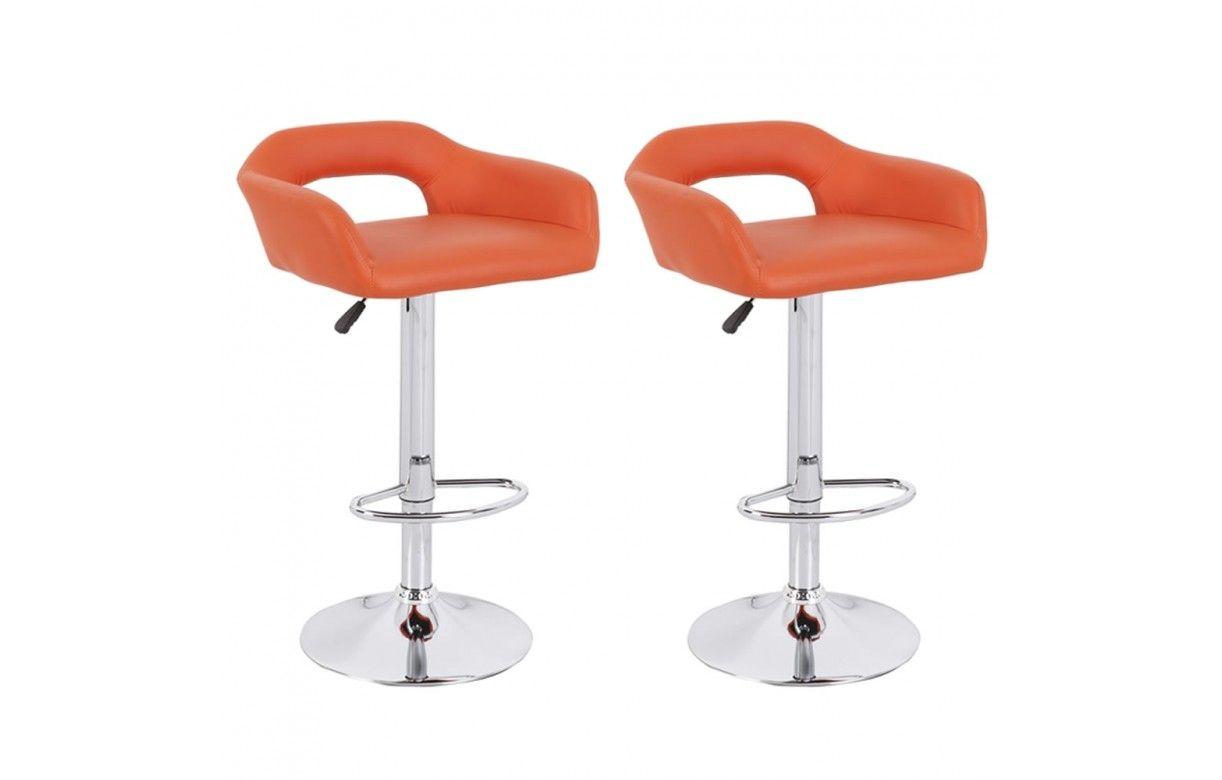 Chaise de bar design en simili cuir 5 coloris minoa lot de 2 decome store - Chaise de bar design ...