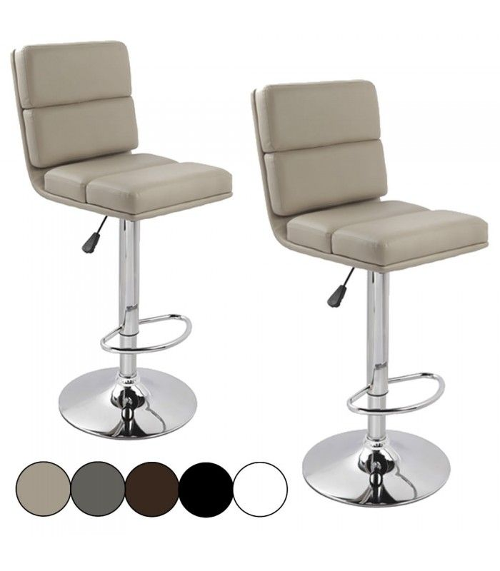 tabouret de bar design en simili cuir lot de 2. Black Bedroom Furniture Sets. Home Design Ideas