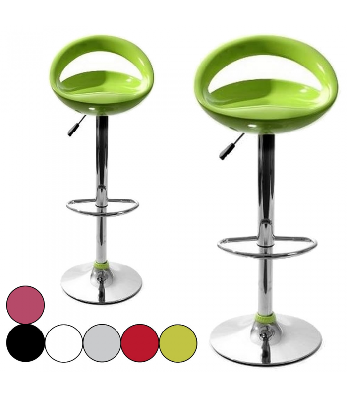 Lot de 2 tabourets de bar design pas chers - Tabouret de bar transparent pas cher ...