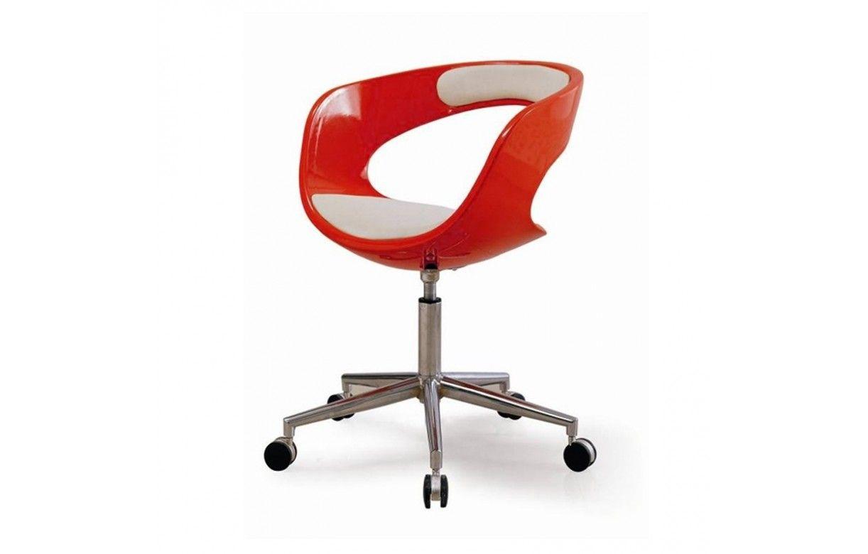 fauteuil informatique roulettes marron orange ou rouge. Black Bedroom Furniture Sets. Home Design Ideas