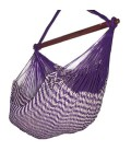Hamac chaise mexicain en tissu violet avec rayures