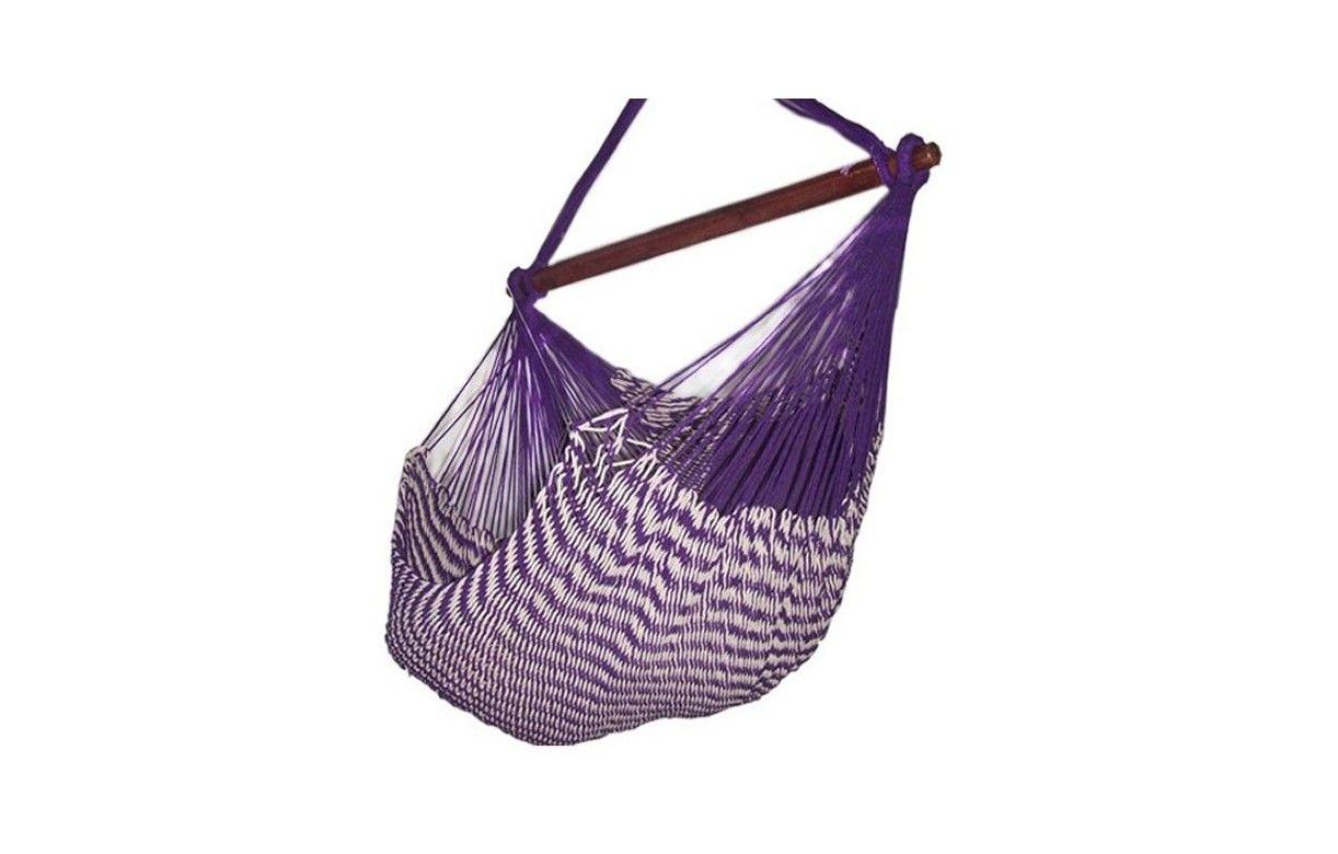 hamac chaise mexicain en tissu violet avec rayures decome store. Black Bedroom Furniture Sets. Home Design Ideas