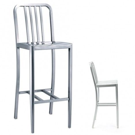 tabouret de bar aluminium. Black Bedroom Furniture Sets. Home Design Ideas