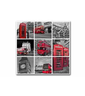 Tableau British London city Patchwork 50x50 cm MEDLEY