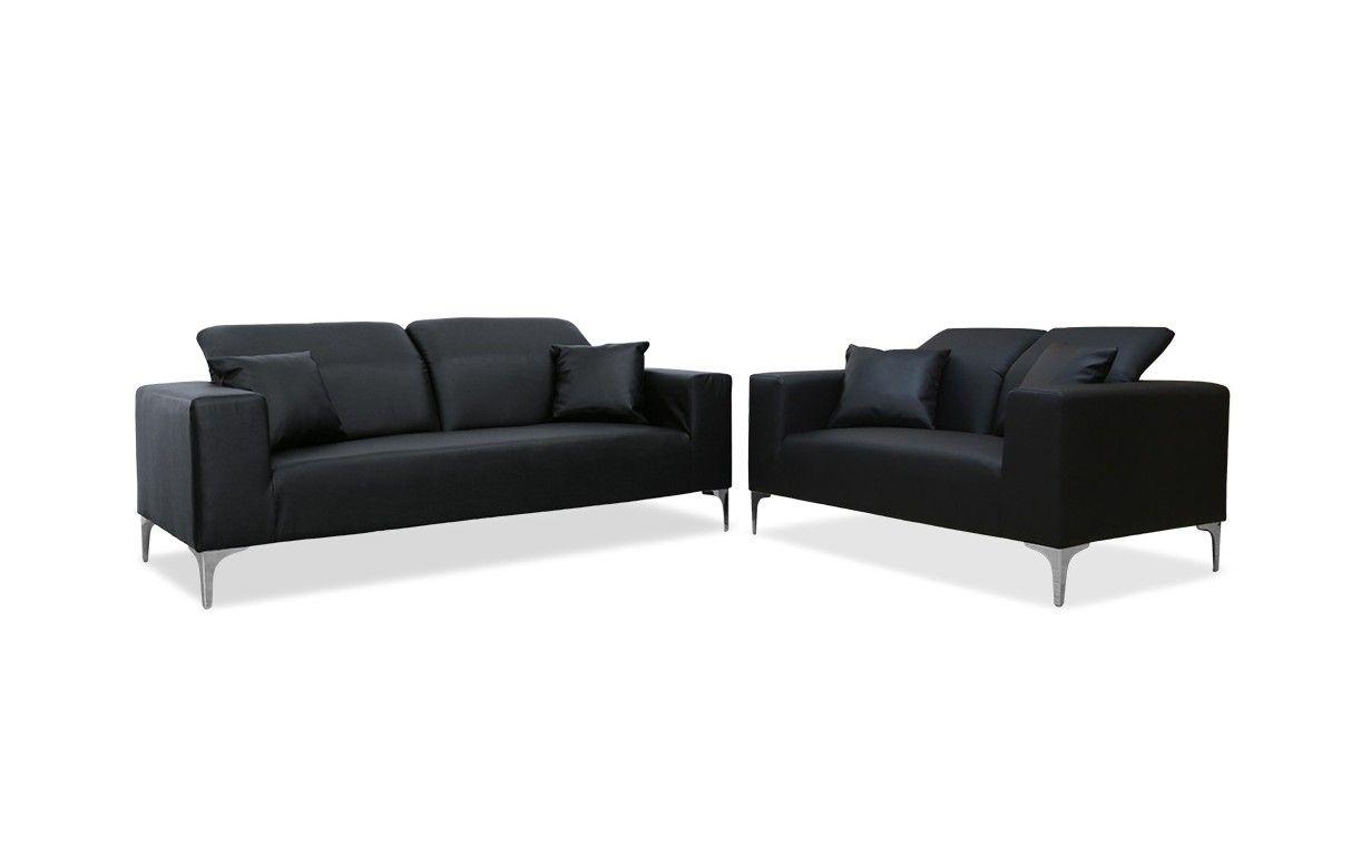 Salon complet canap s 2 places 3 places avec t ti res tanga 3 coloris decome store - Salon avec 2 canapes ...