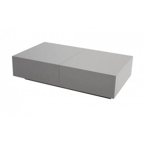 Table basse design avec rangement coffre coulissant Fanly - 5 coloris -