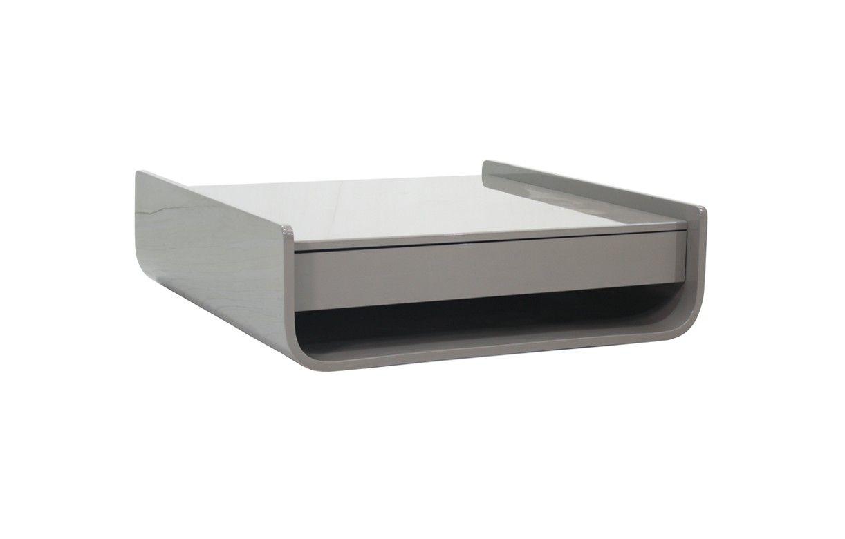table basse design avec 2 tiroirs et niche de rangement. Black Bedroom Furniture Sets. Home Design Ideas