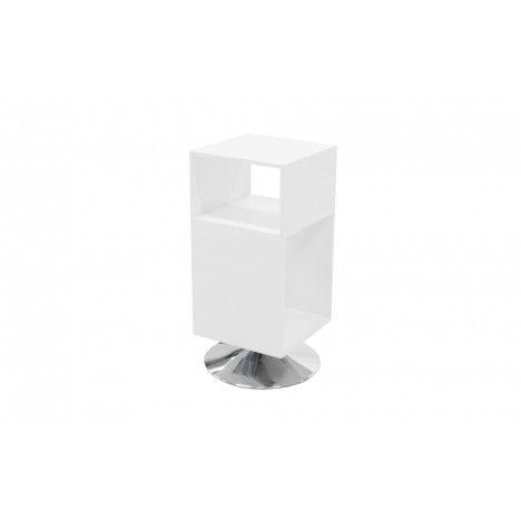 Table de chevet design avec rangements et pied métal Fridy - 4 coloris -