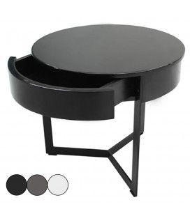 table d 39 appoint chevet design bois ou laqu brillant. Black Bedroom Furniture Sets. Home Design Ideas