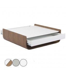 Table basse design avec 2 tiroirs et niche de rangement Flaury - 3 coloris