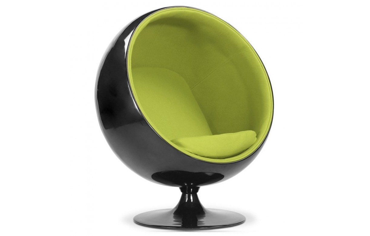 fauteuil en fibre de verre et velours noir et vert ball decome store. Black Bedroom Furniture Sets. Home Design Ideas