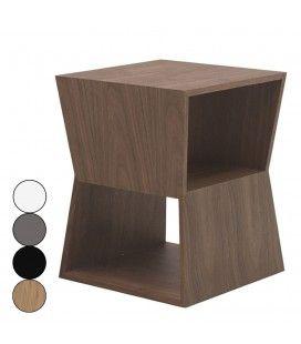 Chevet design en bois avec deux niches de rangement Fredy - 4 coloris