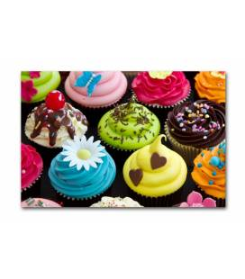 Tableau Gourmand Cupcakes tentation 80x55 cm CUP