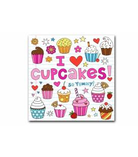 Tableau gourmand I love cupcakes 50x50 cm LIKE