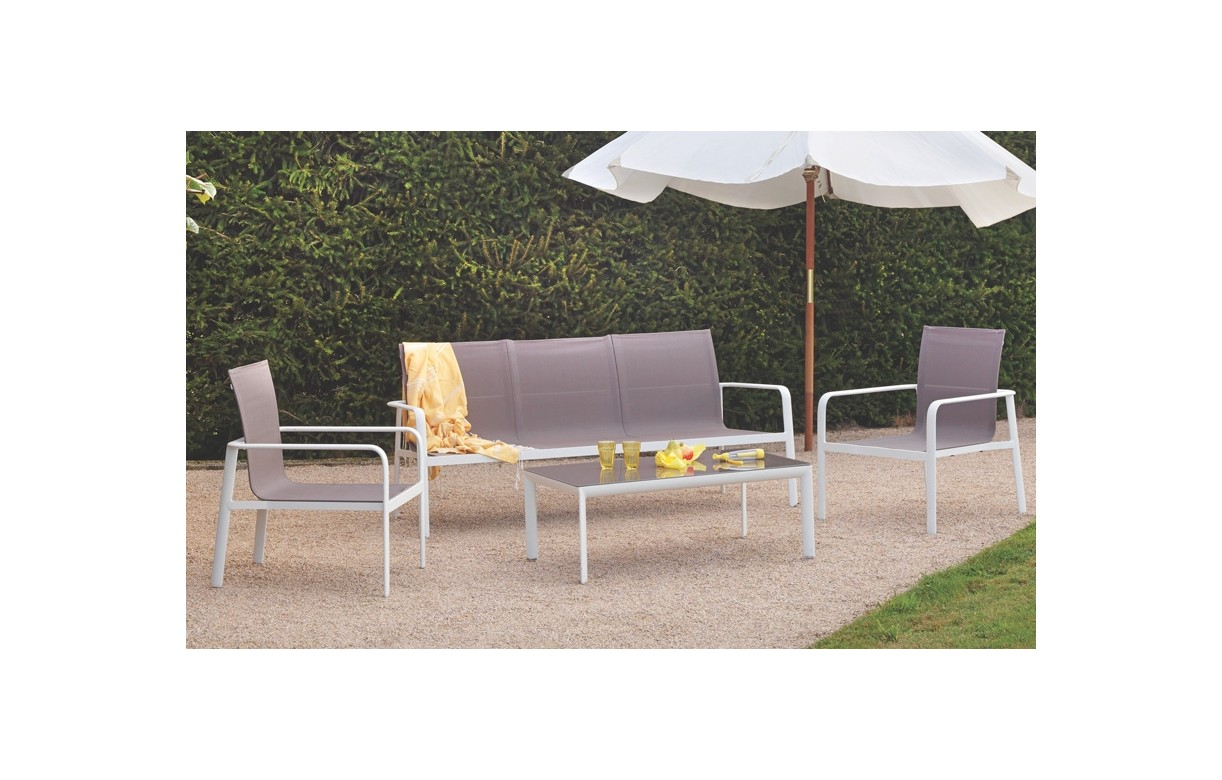 Emejing salon de jardin taupe et blanc photos awesome for Table basse scandinave gris et blanc