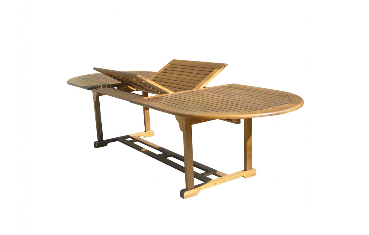 Awesome table de jardin en bois d acacia gallery awesome for Table jardin en bois
