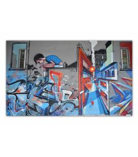 Tableau pop art graphiti street 80x55 cm ALONE