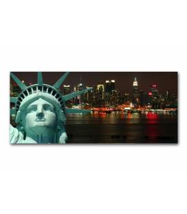 Tableau panoramique New York Liberty 90x30 cm PANORI