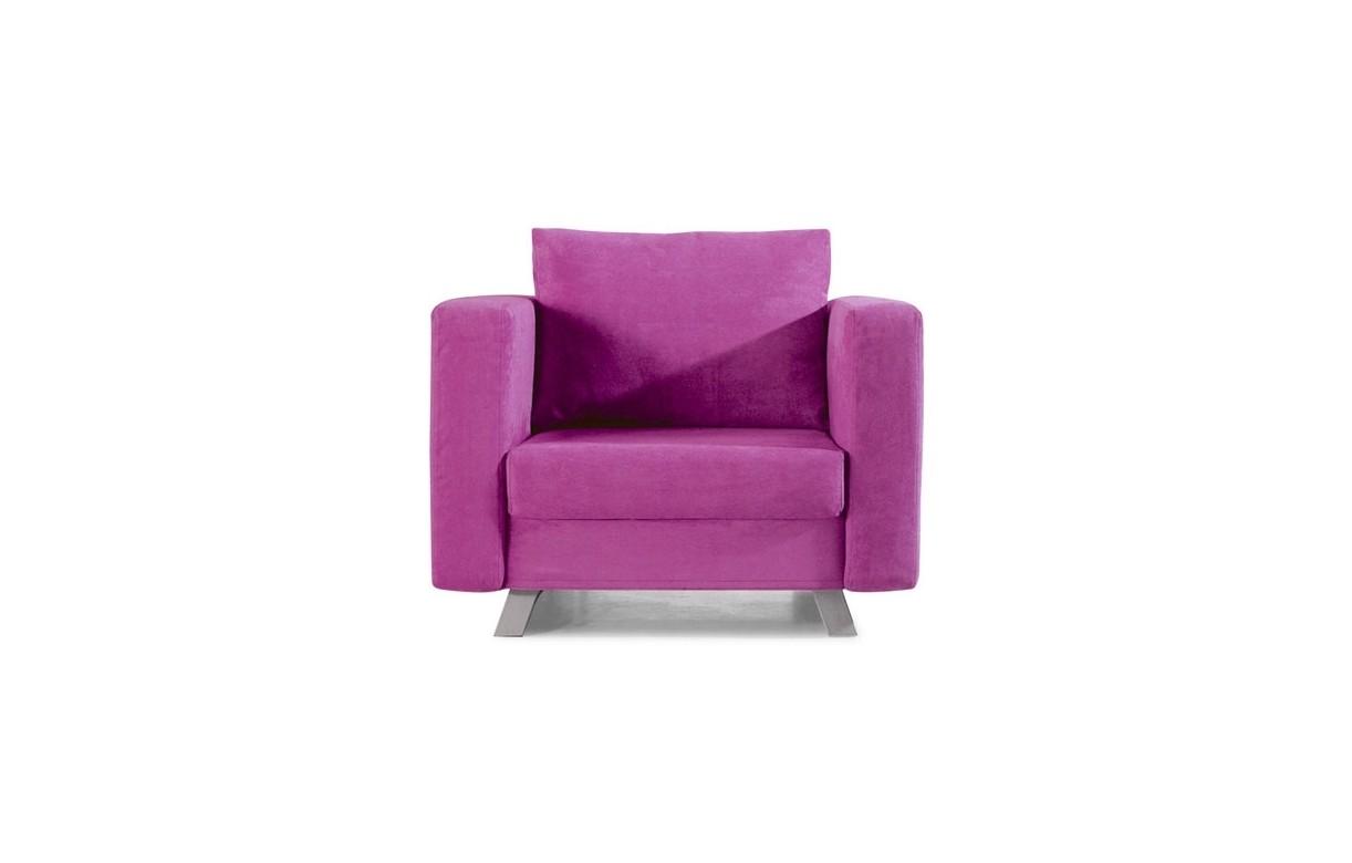 Fauteuil convertible 1 place en tissu soly 4 coloris for Fauteuil 4 places