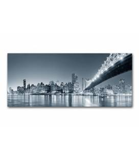 Tableau panoramique New York by night 90x30 cm PANORI