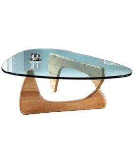 Table basse design en verre et bois Boomy -