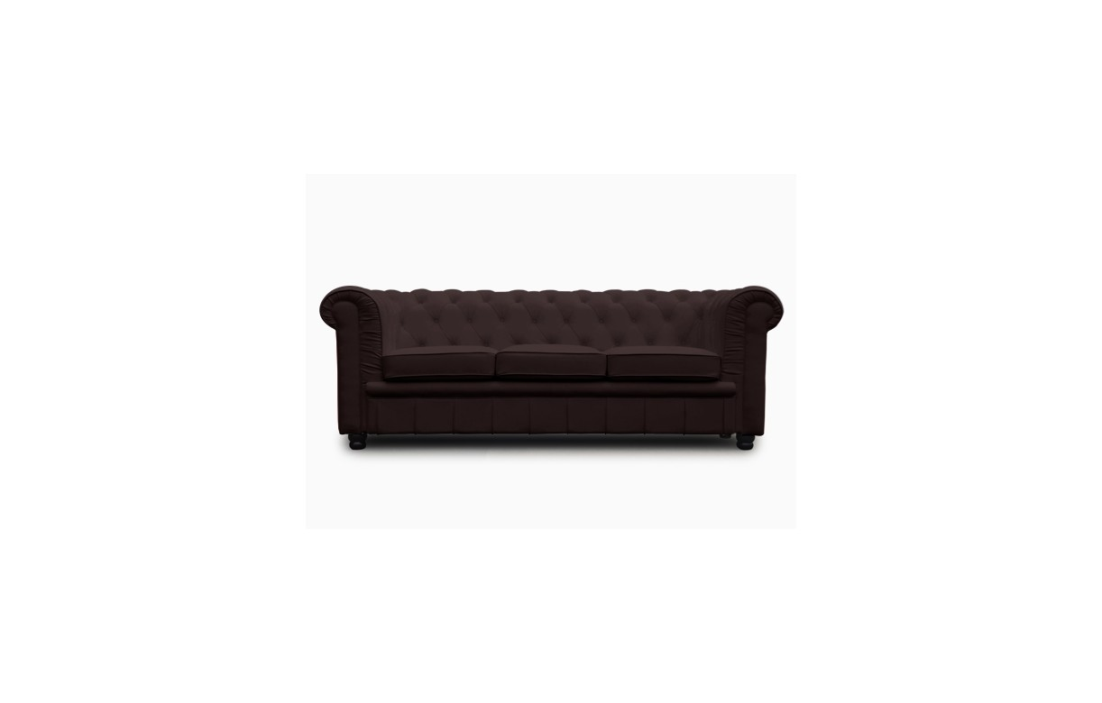 Canap chesterfield convertible 3 places en simili cuir - Canape convertible cuir 3 places ...