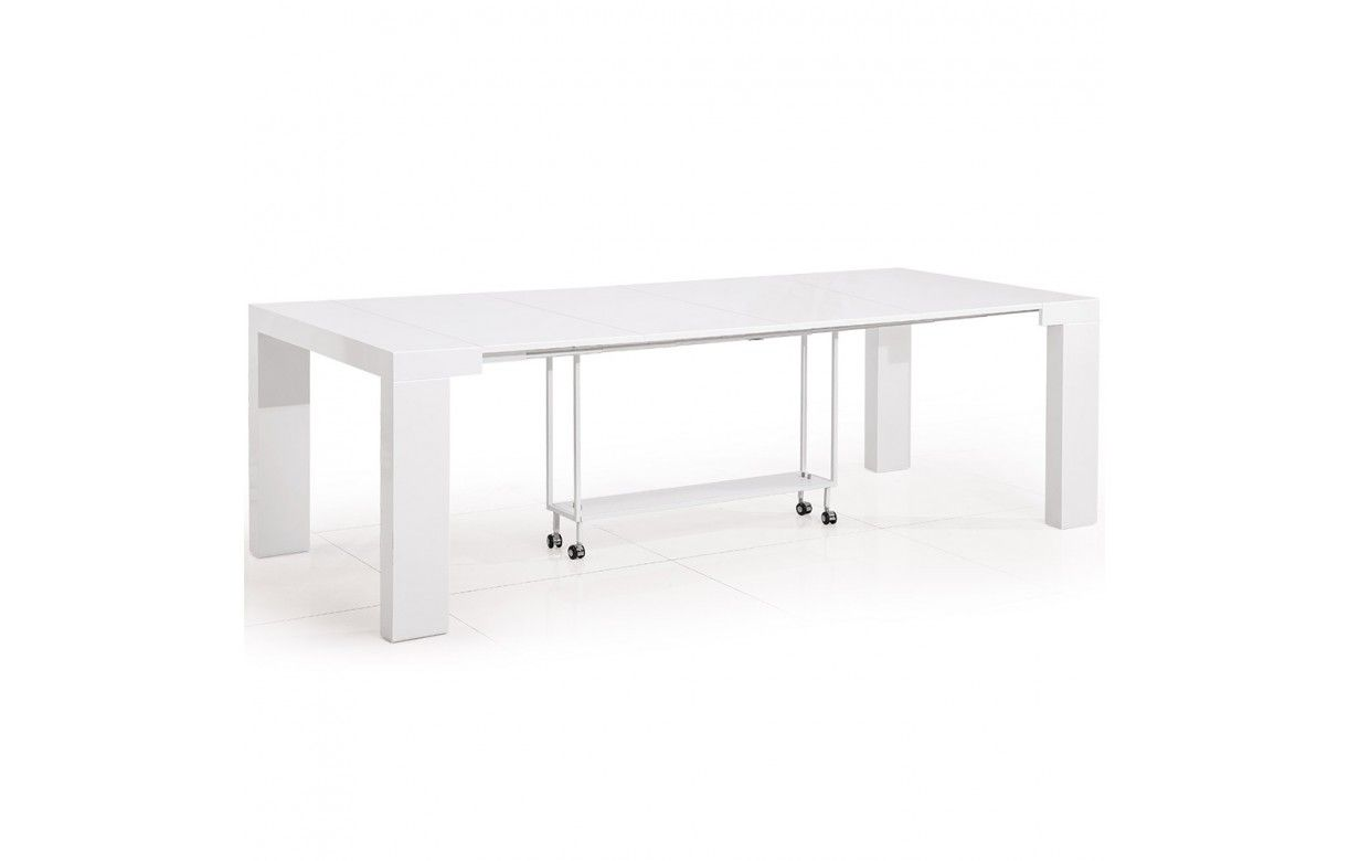 Table console extensible 12 places castilla 4 coloris Table extensible 12 personnes
