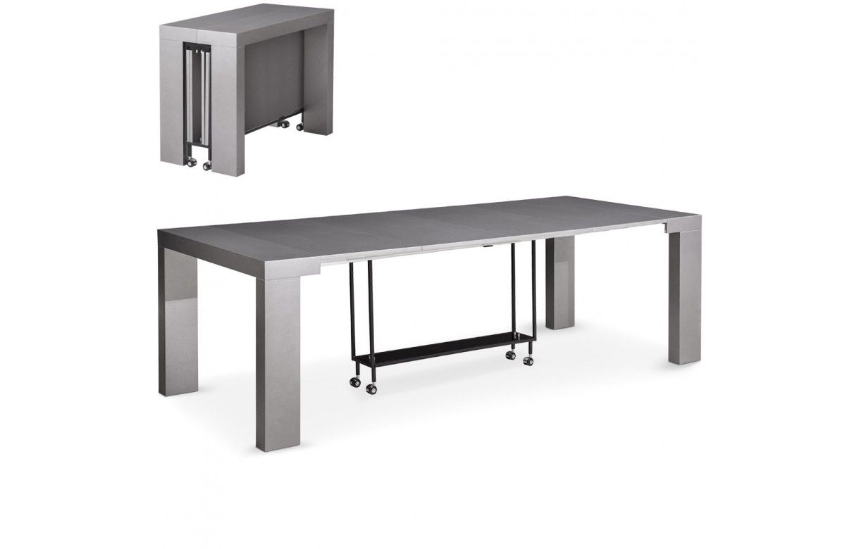 Table console extensible 12 places castilla 4 coloris for Table 4 places extensible