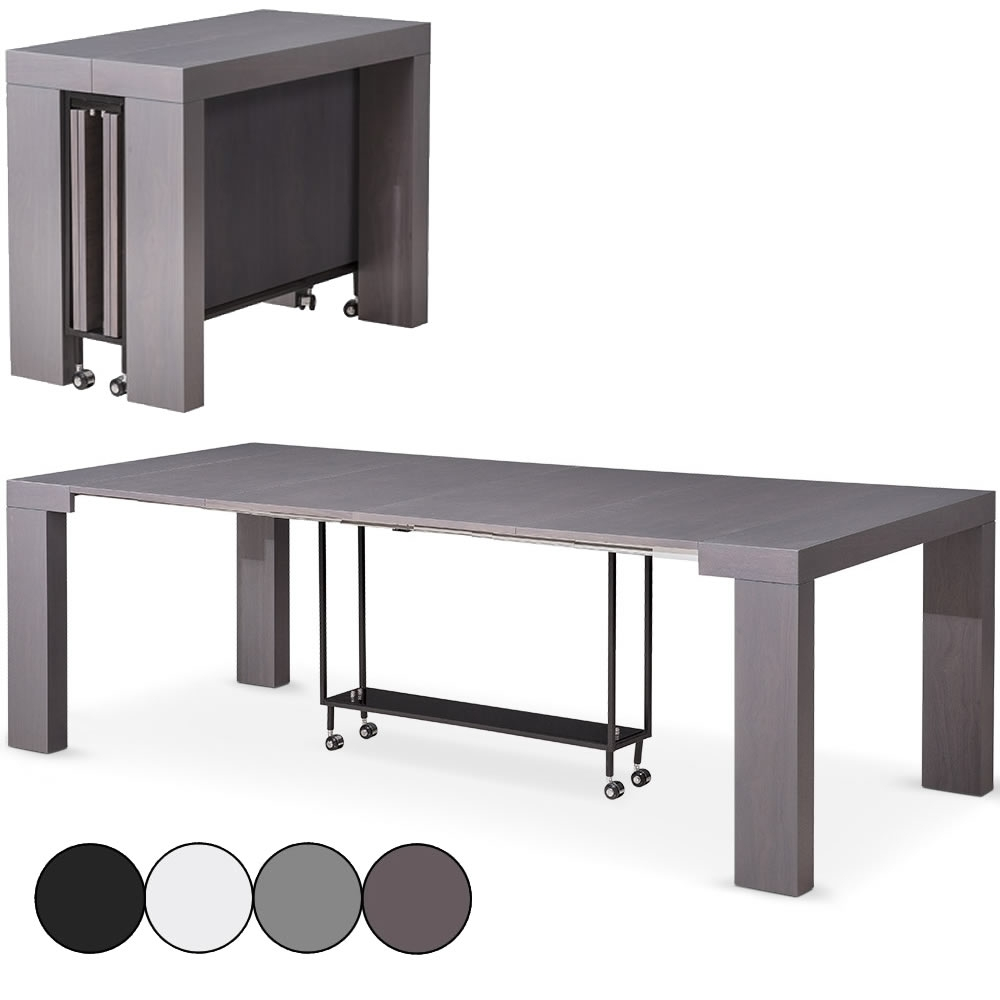 Excellent table console extensible places castilla coloris with console extensible avec - Console extensible avec rallonges integrees ...