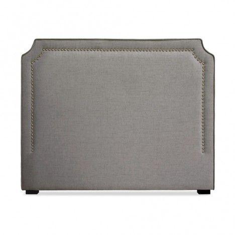 Tête de lit en tissu 140cm en tissu gris taupe ou beige Milany -