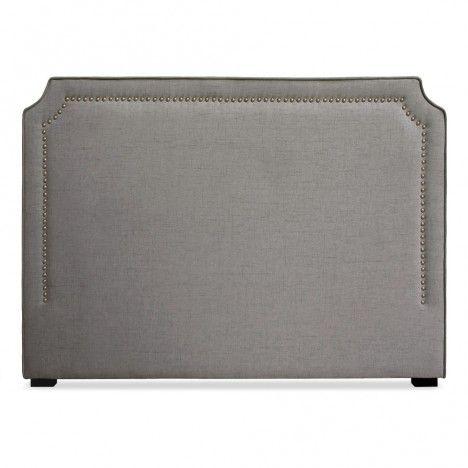 Tête de lit en tissu 160cm en tissu beige taupe ou gris Milany -