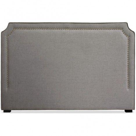 Tête de lit en tissu 180cm en tissu taupe gris ou beige Milany -